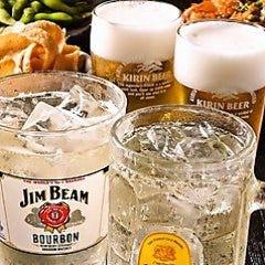 【生ビール付き】単品飲み放題1800円  →クーポン利用で1500円