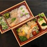 チキンタルタル南蛮と季節の2種ご飯弁