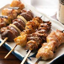 オリジナルブランド鶏「大和極味鶏」の逸品焼鳥