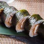 ササミフライの巻き寿司