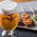生ビール(サントリープレミアムモルツ)