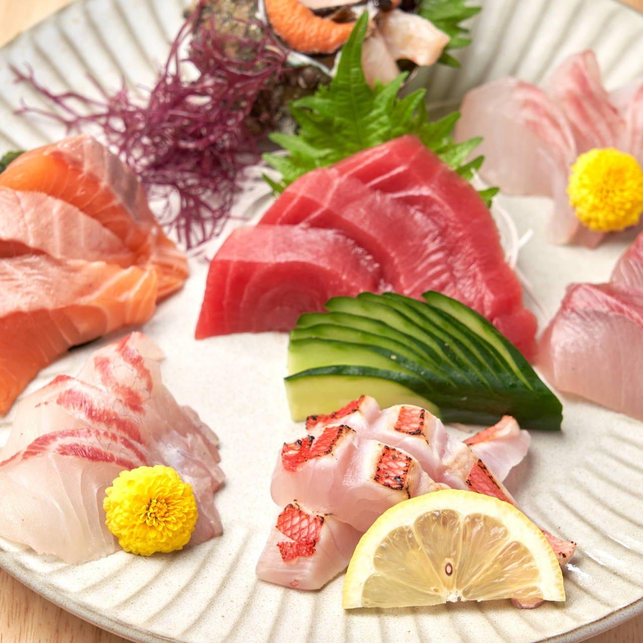 産地直送鮮魚を使用した絶品料理