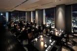 【和食・ダイニング】仙台の夜景が一望できます