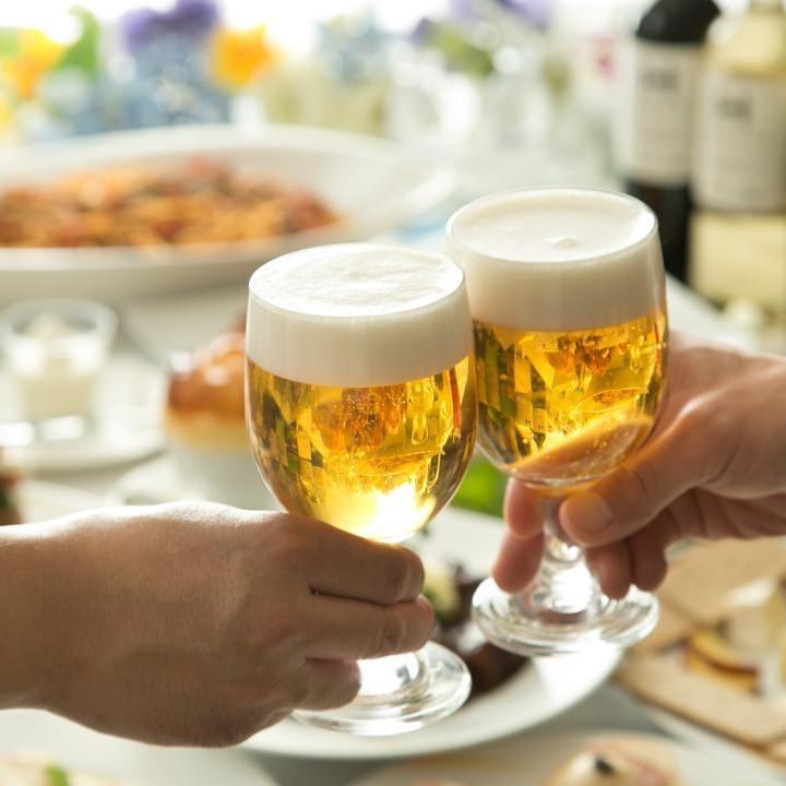 【コーラルコース全10品】120分飲み放題 獺祭やスパークリングも★普段の飲み会やカジュアルにご宴会