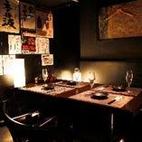 全てを忘れられる優雅な個室空間!2名様から4名様のご利用におすすめ♪宴会 デート