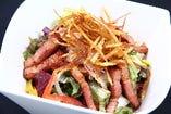 厚切りベーコンと緑黄野菜のサラダ