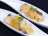 白身魚のエスカベッシュ