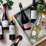 人気の「ランチ&ワインブッフェ」では10種のワインが飲み放題