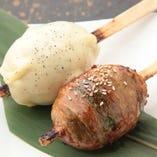 割り箸に刺さった肉巻きおにぎり!こんな楽しい絶品料理が多彩!!