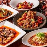唐辛子、花椒などスパイスを駆使した辛くて旨い料理が人気です