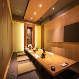 上質な和モダン空間。掘りごたつ席完全個室(5~10名様×4部屋)