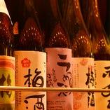 梅酒・果実酒も常に30種以上!個性的で、美味しいものばかり