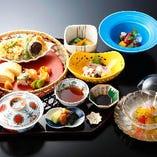 見た目も可愛らしい、簡単ランチから贅沢な会席料理までご用意!