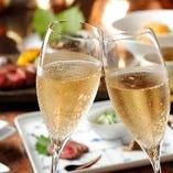 スパークリングワインやシャンパンもご用意