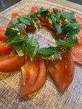 トマトと大葉のみそじゃこサラダ
