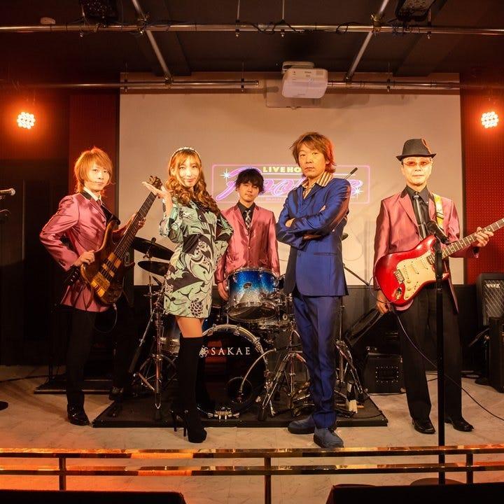 専属バンド【N.K.B】によるLIVE