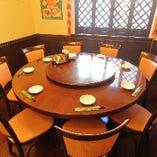 中華の定番・人気の円卓席は10名様までご利用いただけます。
