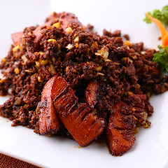 タケノコと挽肉の炒め