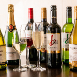シェフ自慢のイタリアンに合わせてワインもこだわりのセレクトです。多彩な産地&ブドウ品種のワインと、料理とのペアリングをお楽しみください。