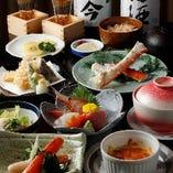 日本酒と楽しみたい8品仕立て「かにづくしコース」