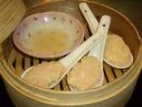 海老と豆腐と帆立のほわほわ蒸¥400
