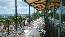 旭山動物園を見下ろすテラス席