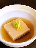 ごま豆腐わさび出汁醤油