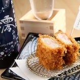 銘柄豚によく合う日本酒・ワインを豊富に取り揃えております。