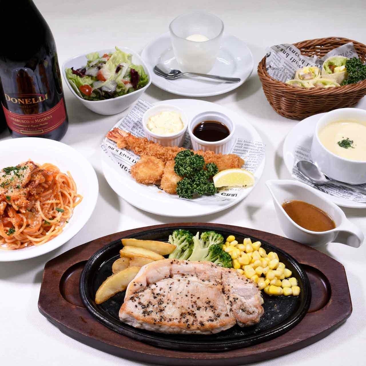 ☆洋食宴会コース☆大満足頂ける内容になっております。