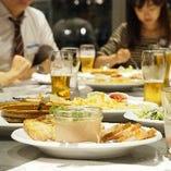 自慢のコース料理は宴会・パーティー・女子会に最適♪