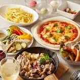 コースはどれも、当店自慢の創作イタリアン料理を中心に逸品を取り揃えております。