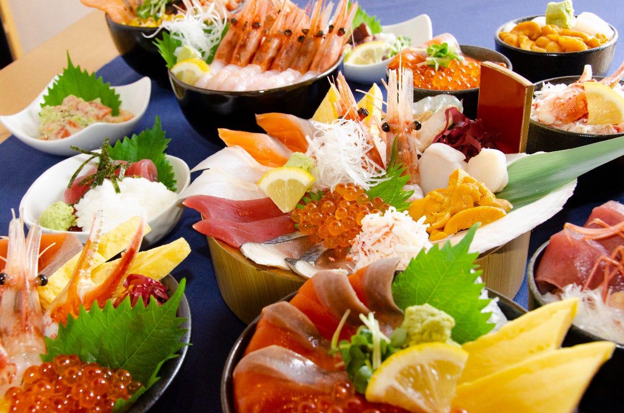 海鮮丼は30種類以上!