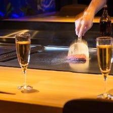 五感で楽しむ鉄板焼き×ワインを堪能