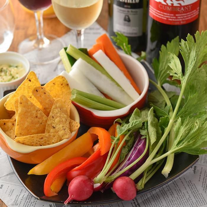 特製ディップで味わう、新鮮野菜のサラダスティック