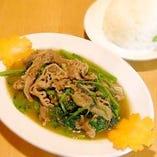 牛肉と空芯菜炒め