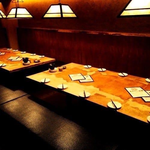 24名様までの大テーブルの個室あります。宴会にぴったり★