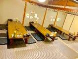 7名様から36名様のお座敷しきりがあるので個室可能!