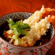 揚げたてサクサクの 海老の天ぷらそば