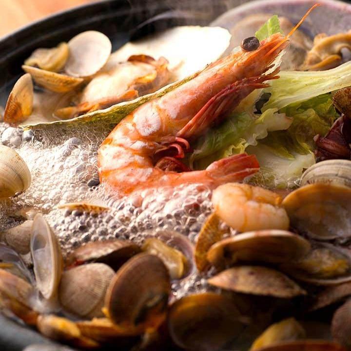 歓送迎会に大海老と貝の豪華浜焼と海鮮焼きしゃぶコース【120分飲み放題付き】
