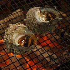 山海の幸、焼鳥や海鮮など炭火焼で