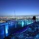 お食事の後は空中展望台でパノラマの夜景を眺めて