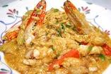 蟹のカレー炒め