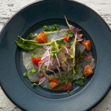 その日イチオシの鮮魚をカルパッチョでご堪能。