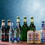 ドリンクは、生ビールやワイン・カクテルも種類豊富に楽しめます。