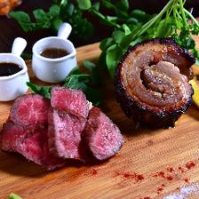 赤身ステーキとポルケッタの名物盛り合わせ