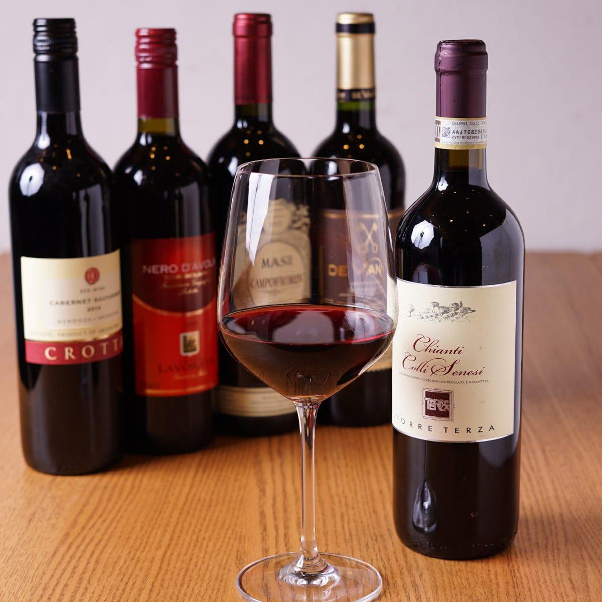 ボトルワインは2,182円から