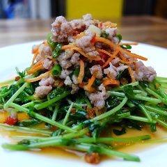 ヤムトォントゥア Thai style Pea Shoots & minced pork salad