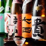 季節に合わせた日本酒は8種以上。全て490円(税抜)でご提供。