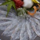 鯛の薄造りはポン酢でサクッと食べ尽くして見て下さい!