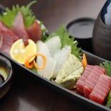 鮮魚のお造り3種盛り